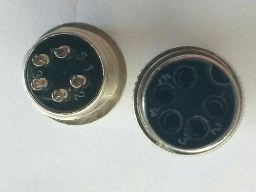 conector gx16-5 / 5 pinos 16mm  conjunto macho e femea