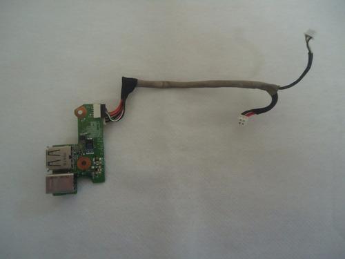 conector jack i/o + usb notebook hp dv6220br (usado)