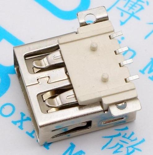 conector jack usb 2.0 tipo a fêmea 4 pinos smd
