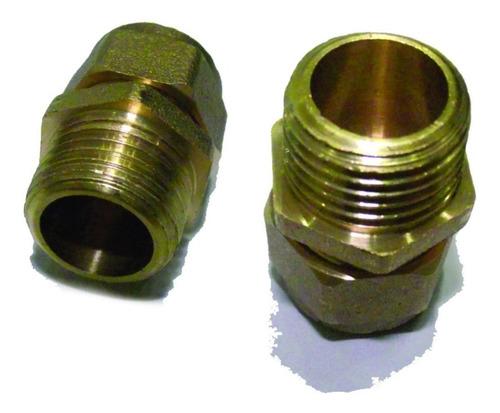 conector macho en bronce para conexiones de gas 15mm ue=300