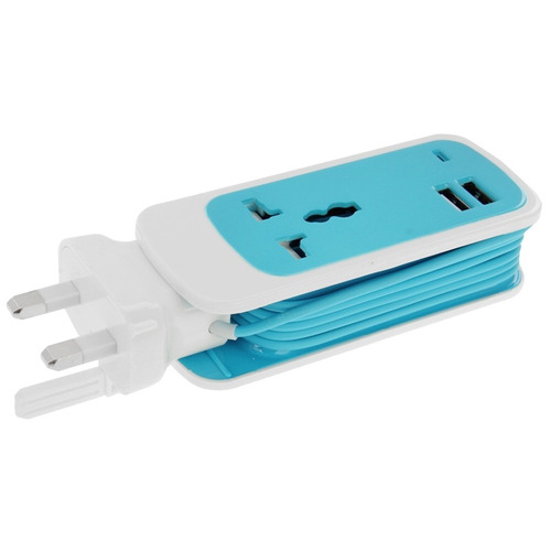 conector macho hembra toma corriente color 3 1 usb azul