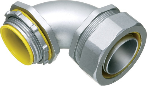 conector metalico para liquid tight 1 pulgada curvo