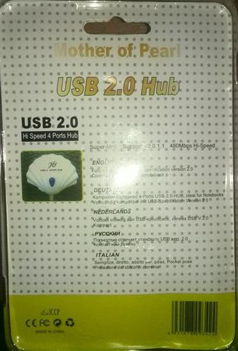 conector multiplicador hub de 1 a 4 puertos usb 2.0