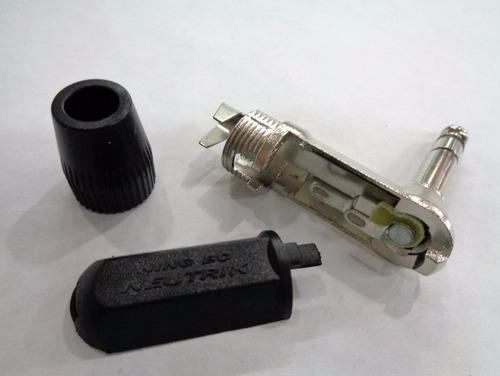 conector neutrik plug 1/4 estéreo doblado 90 grado excelente