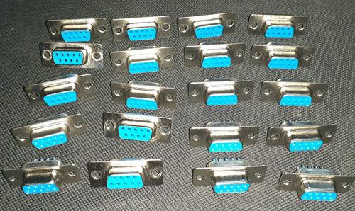conector o conectores db9 hembra o macho nuevo 1,5vrdes