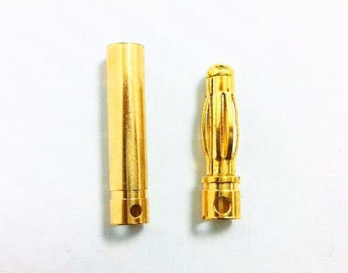 conector ouro 3,5mm par (macho/fêmea)