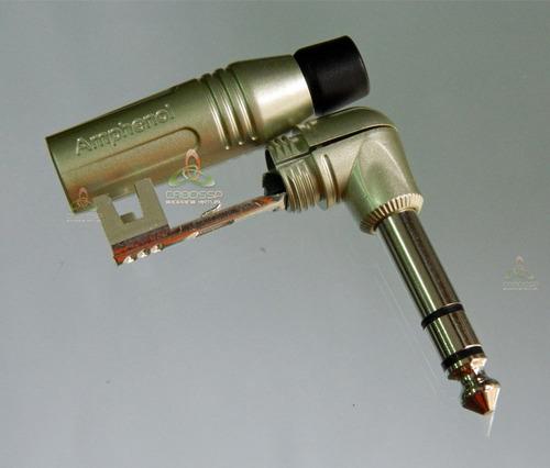 conector p10 amphenol estereo 90 graus acps-rn original nf
