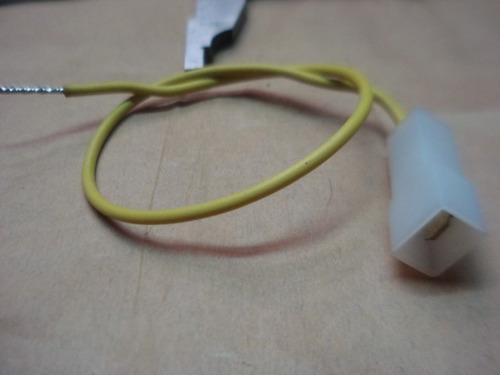 conector pala macho con cable de 30cm lote de 50