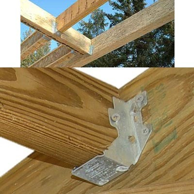 conector para madera jl24 2x4 joist hanger