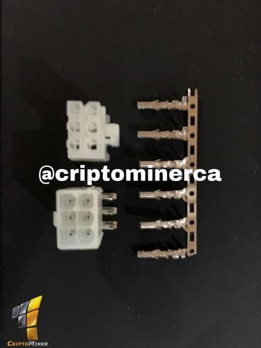 conector pci molex hembra macho 6 pin antminer fuente poder