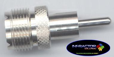 conector pl259 a rca adaptador amphenol cb 11 metros