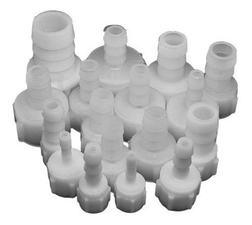 conector plástico rosca h. 3/8  y espiga 5/16¨ (10 unidades)