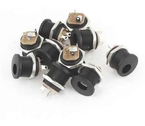 conector plug jack p4 femea j4 2.1mm pedal pedais 50 peças