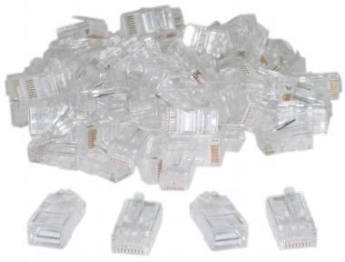conector plug rj45 cat6 bolsa con 100 pz xcase