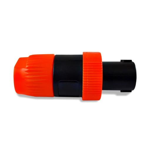 conector plug speakon kit 10 unidades 5 machos + 5 fêmeas