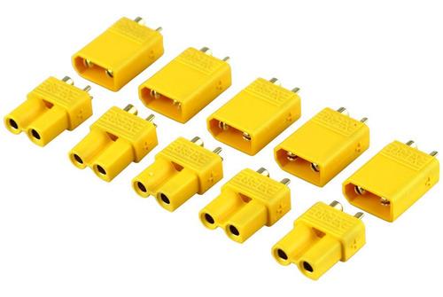 conector plug terminal xt30 kit 5 pares