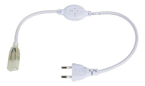 conector plug tomada fonte bivolt p/ fita led 5050 mangueira