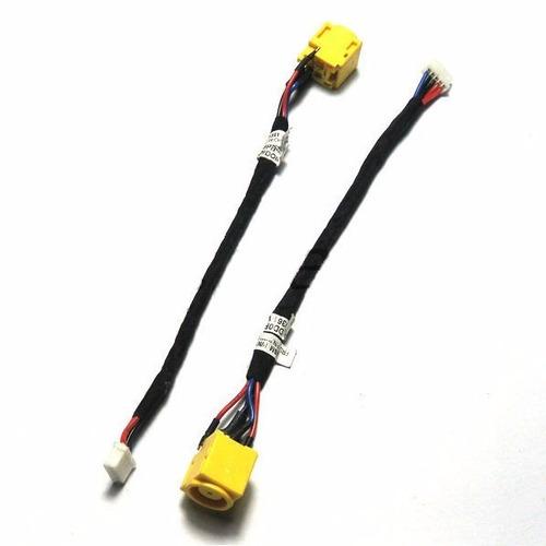 conector power dc jack com cabo para lenovo x100e x120e