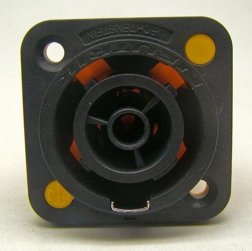 conector powercon neutrik nac3fpx   fêmea painel