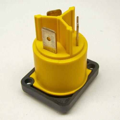 conector powercon neutrik nac3mpx   macho painel