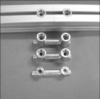 conector prolongador para perfil de alumínio estrutural