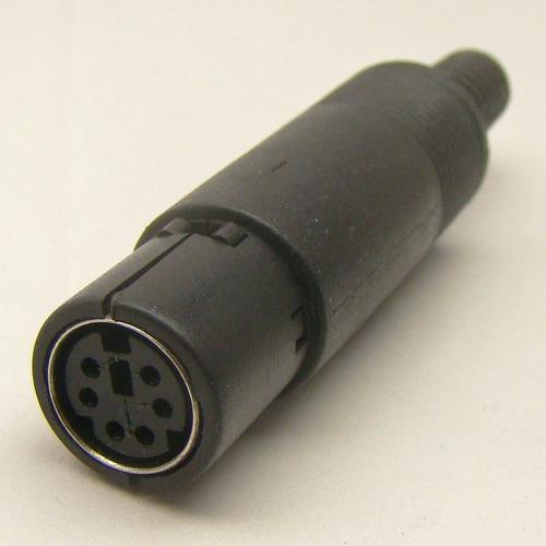 conector ps2 mini din 6 p macho e fêmea cabo