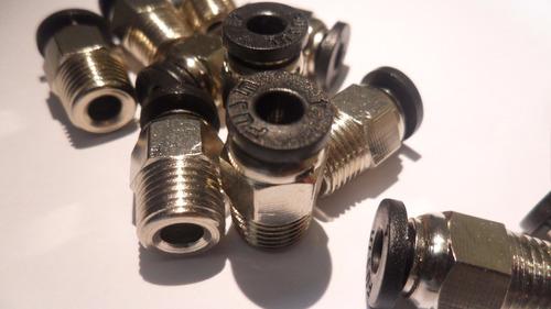 conector rápido 4mm para tubo ptfe filamento de 1.75mm