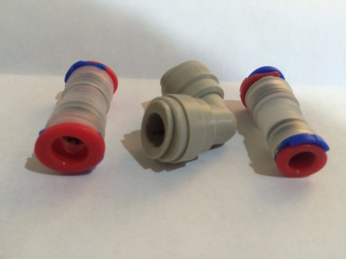 conector rápido refrigerador manguera 5/16 1/4 recto codos