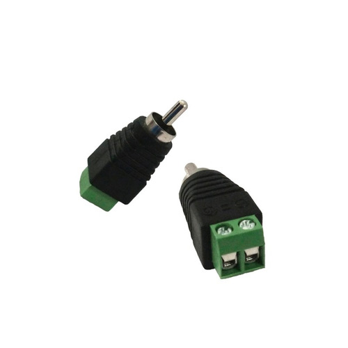 conector rca macho de corriente voltaje para audio dvr cctv