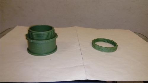 conector recto 2 pulgadas pvc conduit paquete con 10 pzas.