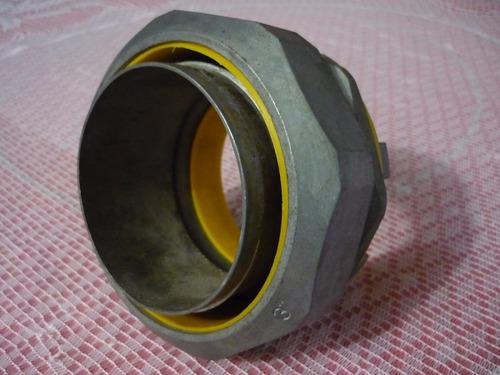 conector recto para tubo liquid tight de 3 pulgadas