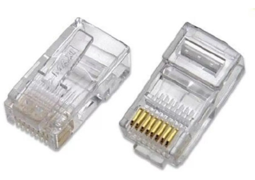 conector red rj45 cat 5 pack 100 unidades cable utp redes