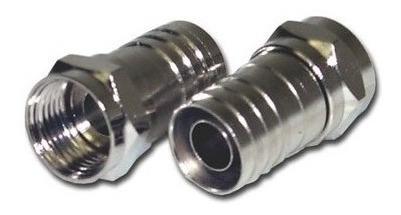 conector rg06  de glimpar tipo barril com 100 unidades