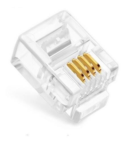 conector rj11 para telefonia paquete 100 und