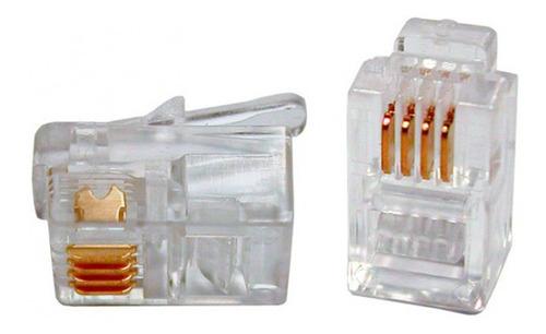 conector rj12 (6p/6c) x 400 unidades dracma