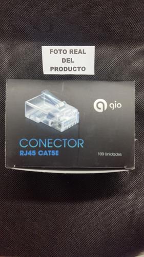 conector rj45 caja 200 unidades utp redes cable camaras cat