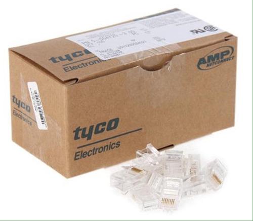conector rj45 cat5e de red caja de 100 unidad tienda fisica