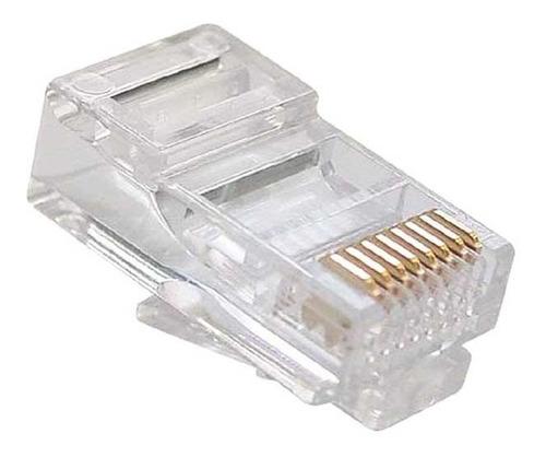 conector rj45 cat6 caja 100und utp jack coupler red