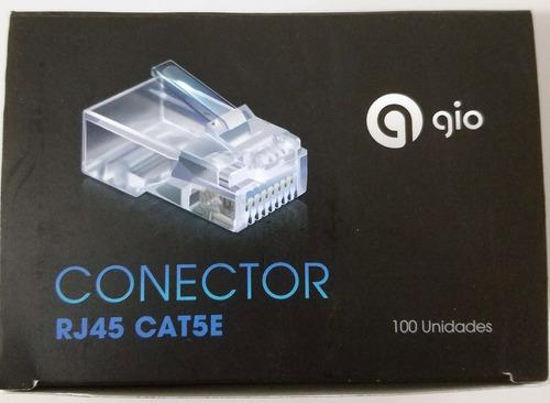 conector rj45 gio caja 100 unidades utp red cable rj45 telec