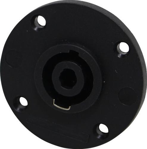 conector speakon kit c/ 2 linha + 2 painel 4polo wireconex