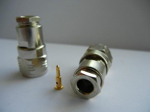 conector tnc macho para cabo rg58 c/10 unidade