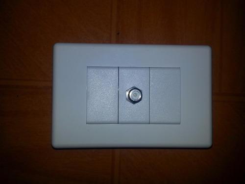 conector toma rj45 cat 5 blanco
