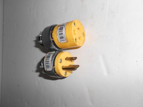 conector trifasico macho hembra marca falcon 15a 125v (347)