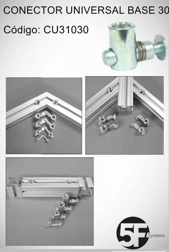 conector universal para perfil estrutural base 30