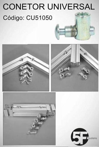 conector universal para perfil estrutural base 50