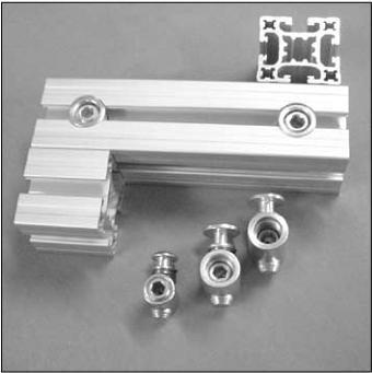 conector universal - perfil  base 20 kit com 10 unidades