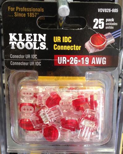 conector ur idc - ur 19-26 awg vdv826-605 klein tools