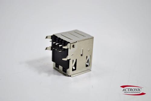 conector usb fêmea 90g duplo us2f3aabk01r (kit com 5 peças)