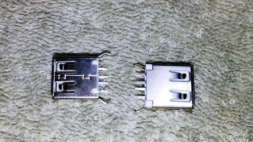 conector usb hembra angulo recto 4 pines usb 2.0 / 10 piezas