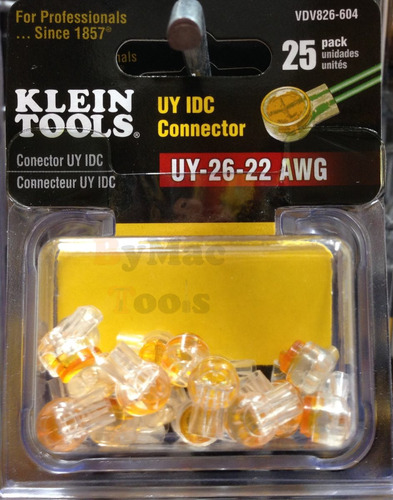 conector uy idc 22-26 uy awg vdv826-604 klein tools